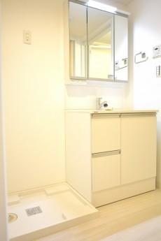 大井町ハイツ 洗面化粧台と洗濯機置き場