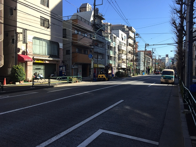 ライオンズマンション小石川植物園 前面道路