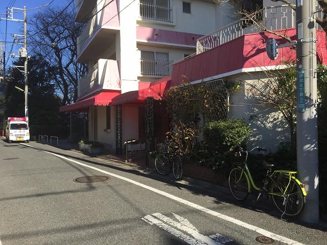 柿の木坂東豊エステート 前面道路