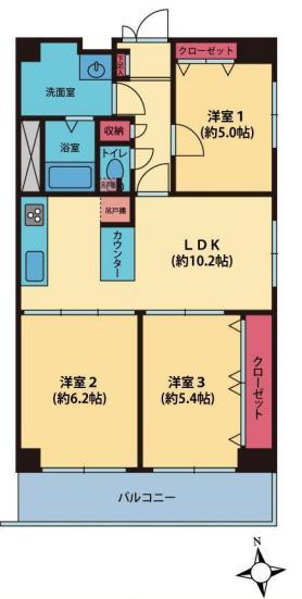 田町スカイハイツ 間取り1F