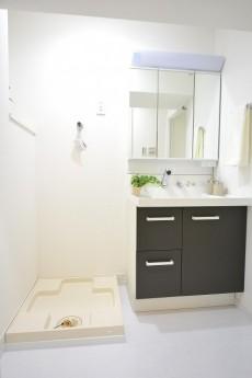 トーカンマンション駒込 洗濯機置場と洗面化粧台