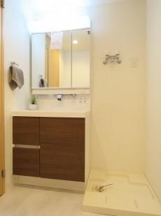 サングリア中目黒 洗面化粧台と洗濯機置場