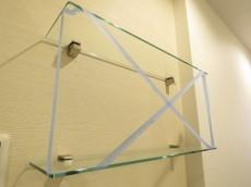 白金台桜苑マンション ガラスの飾り棚