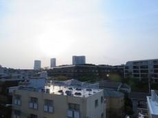 代官山コーポラス 共用廊下からの眺望