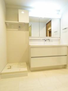 ガーデンハウス 洗濯機置場と洗面化粧台