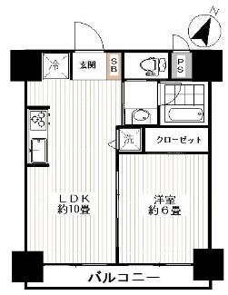 グリーンキャピタル第2笹塚 間取り図