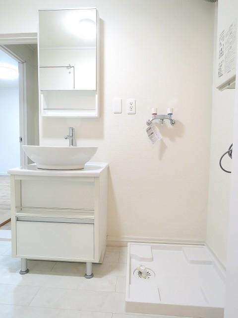 クレードル都立大 洗面化粧台と洗濯機置場