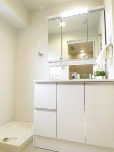 コスモス26上池袋 洗濯機置き場と洗面化粧台