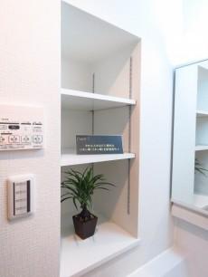 ヴィラティック早稲田 洗面化粧台横の棚
