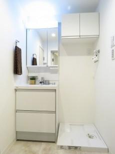 シャンボール池田山 洗面化粧台と洗濯機置場