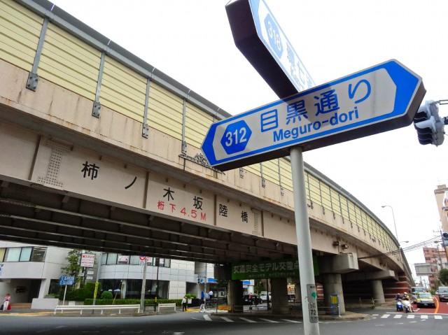 日商岩井碑文谷マンション 柿の木坂陸橋