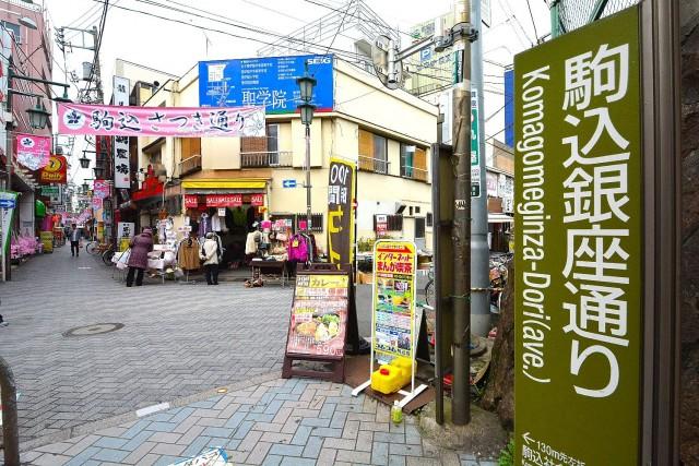 六義園サマリヤマンション 商店街