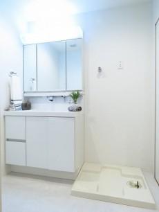 グランテラッセ西早稲田 洗面化粧台と洗濯機置場