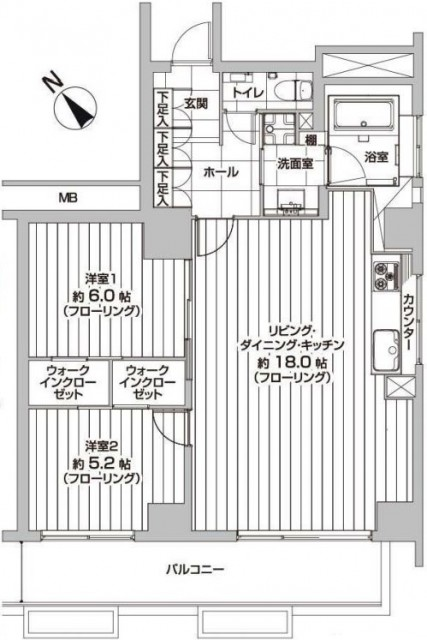 赤坂台マンション 間取図