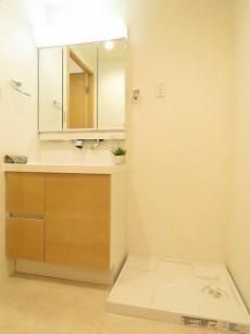 セブンスターマンション東山 洗面化粧台と洗濯機置場