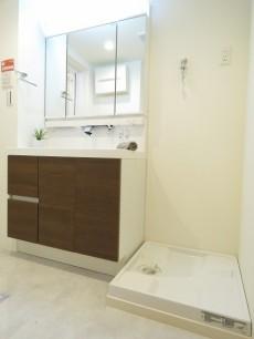 ハイマート若松 洗面化粧台と洗濯機置場