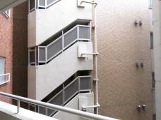 レック芝公園マンション 洋室側バルコニー眺望