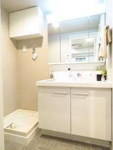 秀和参宮橋レジデンス 洗濯機置場と洗面化粧台