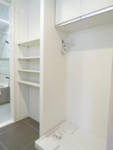 ユーカリハイツ都立大 洗濯機置場と収納棚