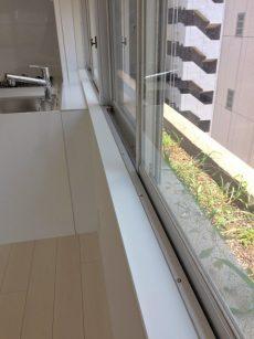 ラインコーポ箱崎 (23) 窓の外が花壇になっております。只今ペンペン草しか生えておりまんが、ガーデニングできますよ