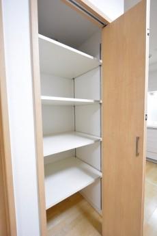 ニューウェルハイツ高輪 サニタリールームの収納スペース