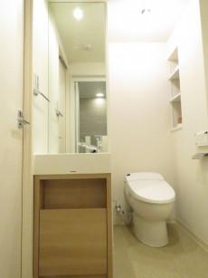 藤和シティホームズ目黒青葉台 洗面化粧台とトイレ