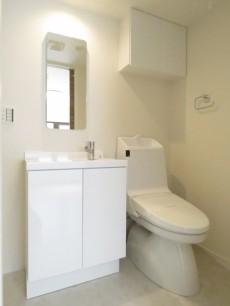 ワールドパレス第Ⅱ武蔵小山 洗面化粧台とトイレ