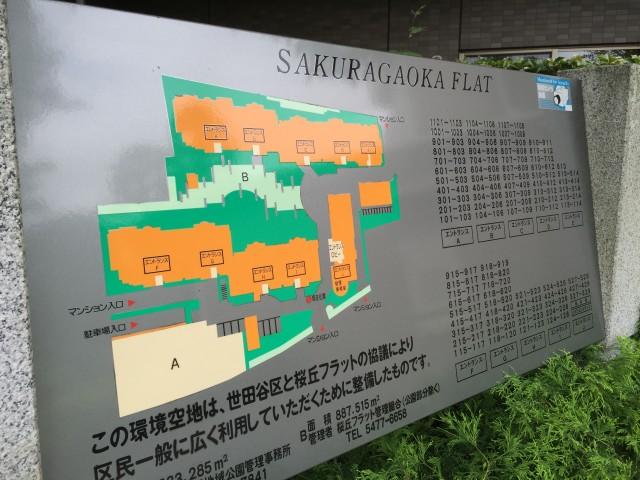 桜丘フラット 案内図