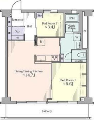 マンション駒場706号室 図