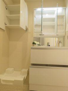 いづみハイツ芦花公園 洗濯機置場と洗面化粧台