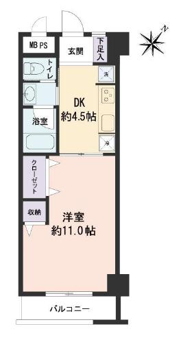 チサンマンション三軒茶屋第2805 間取り図