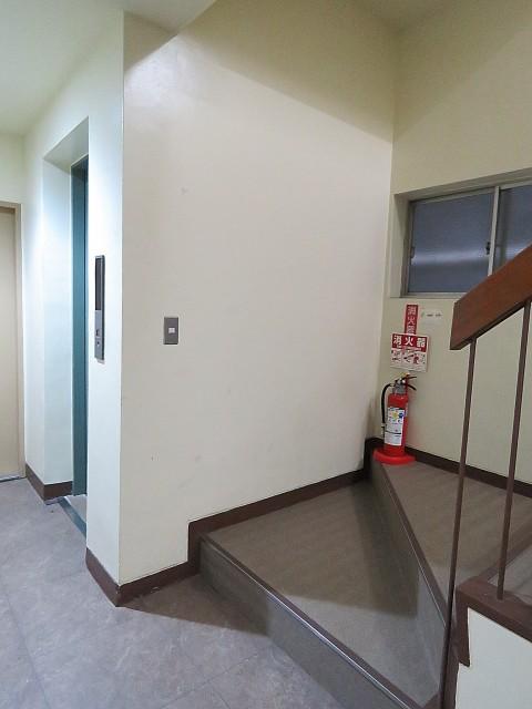 ニュー上馬マンション エレベーターと階段