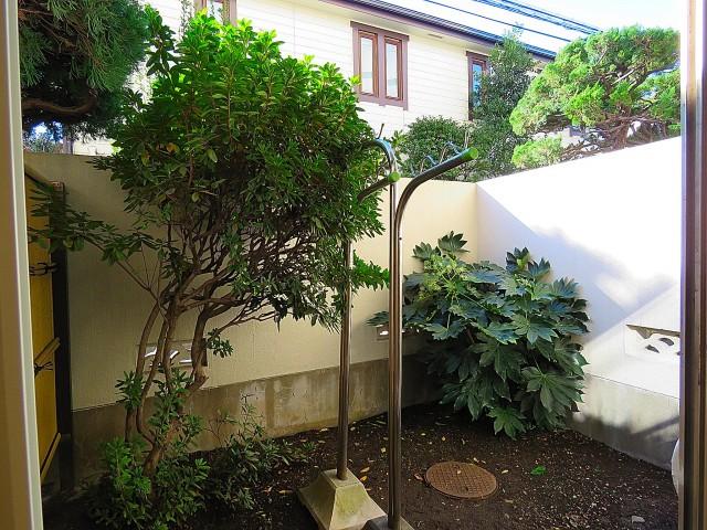 豊栄平町マンション 洋室側庭