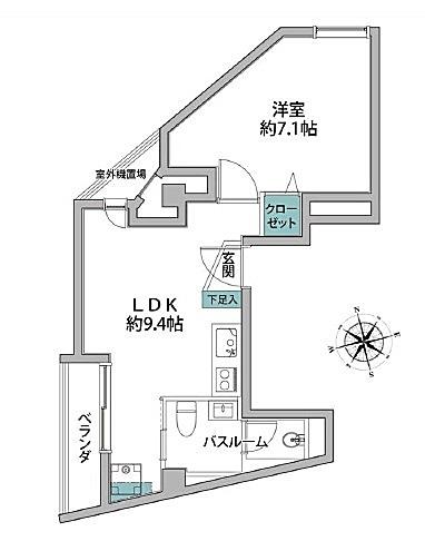 エグゼクティブ渋谷 間取り図