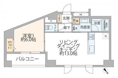 デ・リード日本橋箱崎 間取り図