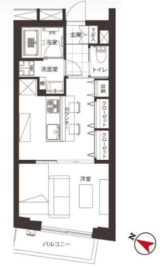 エスポワール渋谷松濤 間取り図