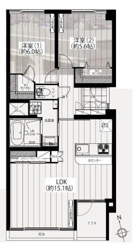 川口アパートメント 間取り図