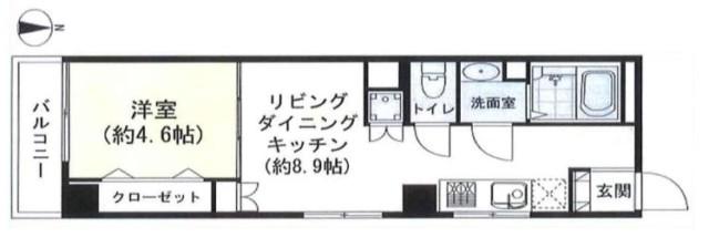 中野永谷マンション 間取り図