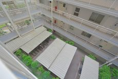 神楽坂ハウス 外廊下