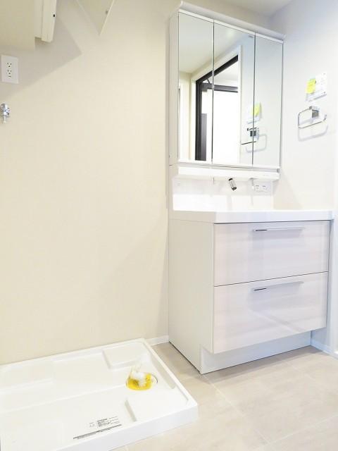 六本木ハイツ 洗濯機置場と洗面化粧台