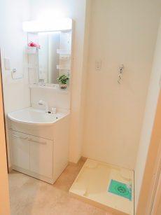 ライオンズマンション大森 洗面化粧台と洗濯機置場