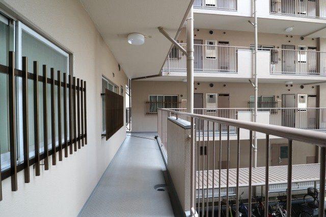 飯田橋第一パークファミリア 外廊下