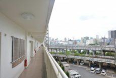 三田ナショナルコート 外廊下