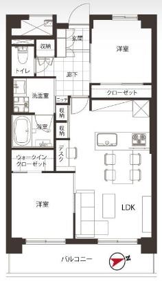 三田ナショナルコート 間取り図