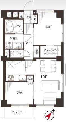 田町東豊エステート 間取り図