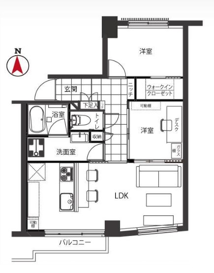 幡ヶ谷コーエイマンション 間取り図