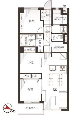 四谷軒第1経堂シティコーポ 間取り図