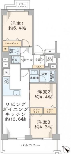 上野毛リッツハウス 間取り図