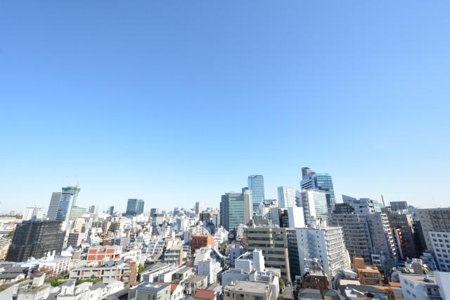 クレッセント渋谷神泉 東側バルコニー