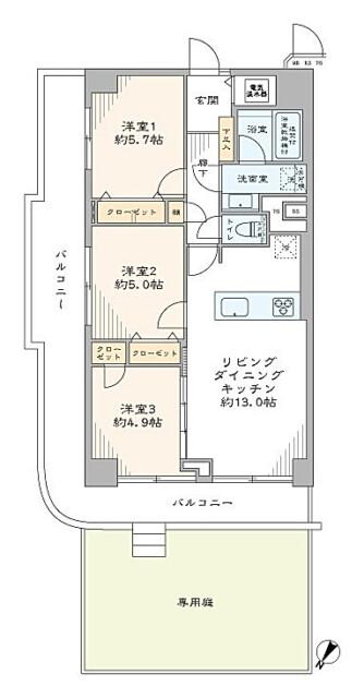 ローズハイツ仙台坂 間取り図